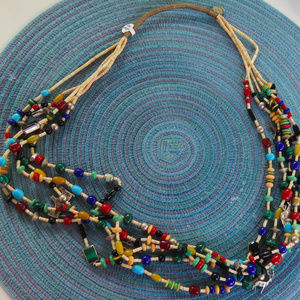 christin wolf necklace 5 strands sterling silver